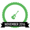 "Badge icon ""Guitar (6601)"" provided by The Noun Project under Creative Commons CC0 - No Rights Reserved"